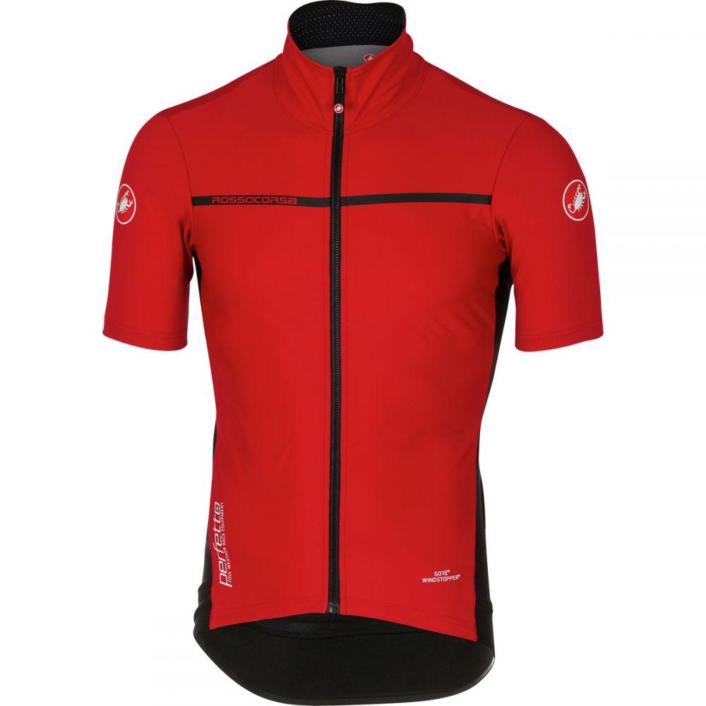 カステリ メンズ 自転車 トップス【Perfetto Light 2 Short - Sleeve Jerseys】Red
