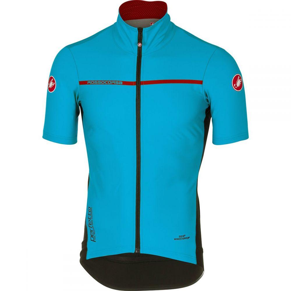カステリ メンズ 自転車 トップス【Perfetto Light 2 Short - Sleeve Jerseys】Sky Blue