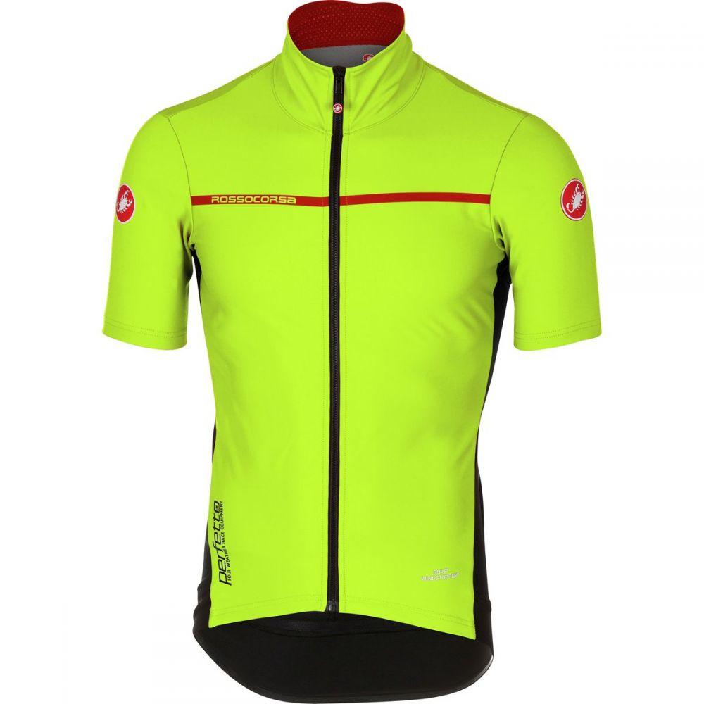 カステリ メンズ 自転車 トップス【Perfetto Light 2 Short - Sleeve Jerseys】Yellow Fluo