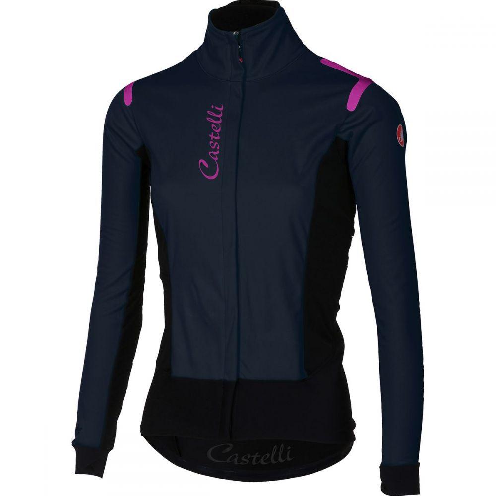 カステリ レディース 自転車 アウター【Alpha RoS Jacket】Dress Blue/Black
