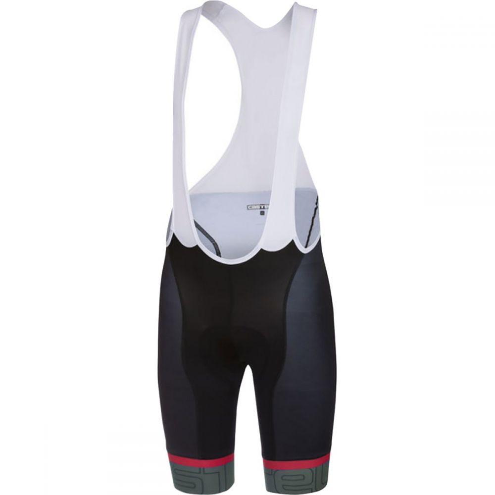 カステリ メンズ 自転車 ボトムス・パンツ【Volo Bib Shorts】Black/Forest Gray