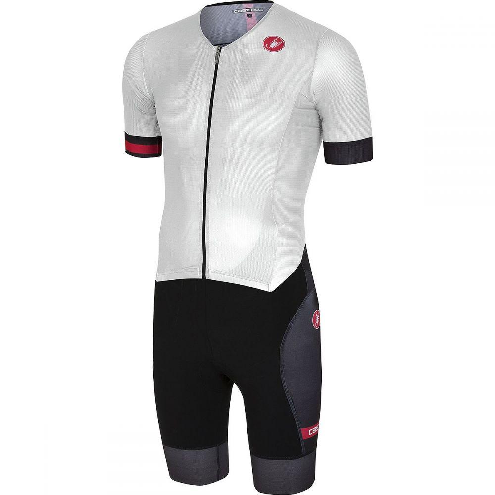カステリ メンズ トライアスロン トップス【Free Sanremo Short Sleeve Suits】White/Black