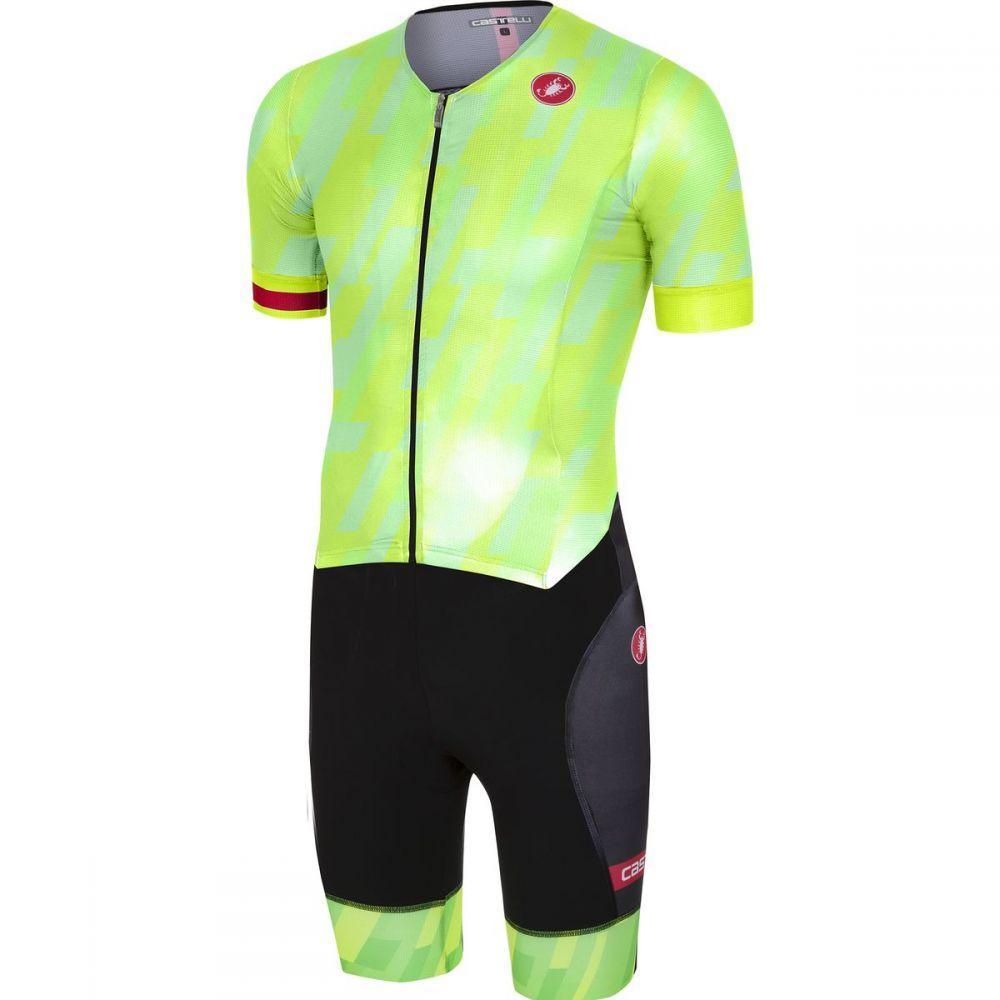 カステリ メンズ トライアスロン トップス【Free Tri ITU Suits】Pro Green/Black