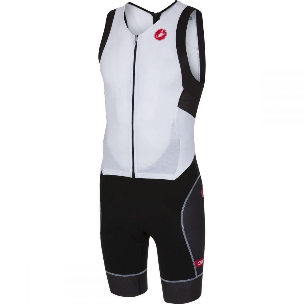 カステリ メンズ トライアスロン トップス【Free Tri ITU Suits】Withe/Black