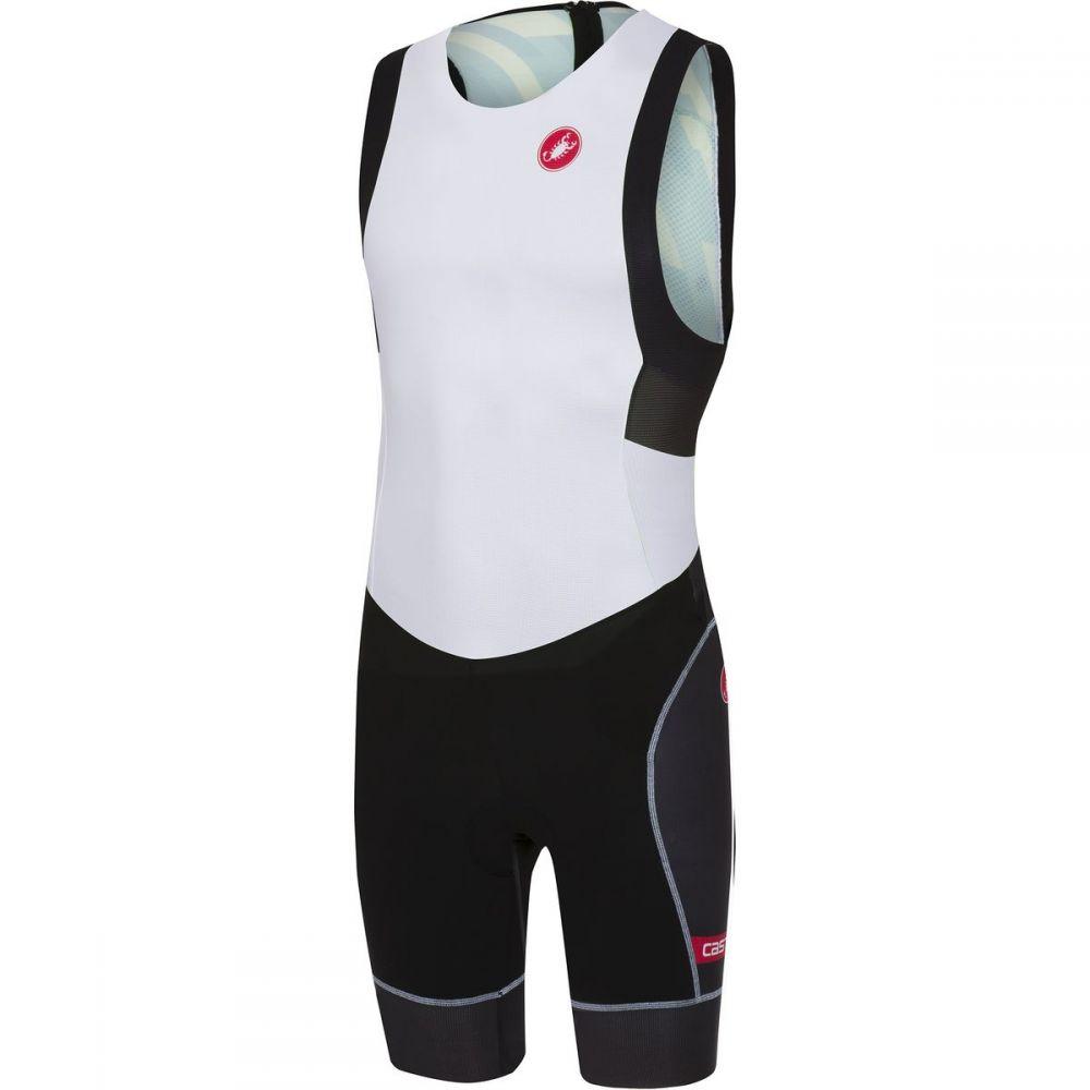 カステリ レディース トライアスロン トップス【Short Distance Race Suit】White/Black