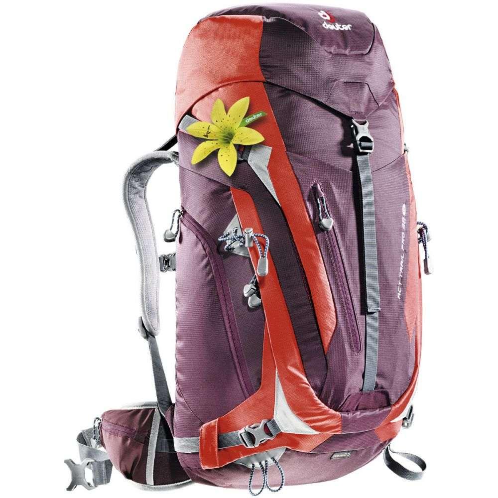 ドイター レディース ハイキング・登山 バックパック・リュック【ACT Trail Pro SL 38L Backpack】Aubergine/Fire