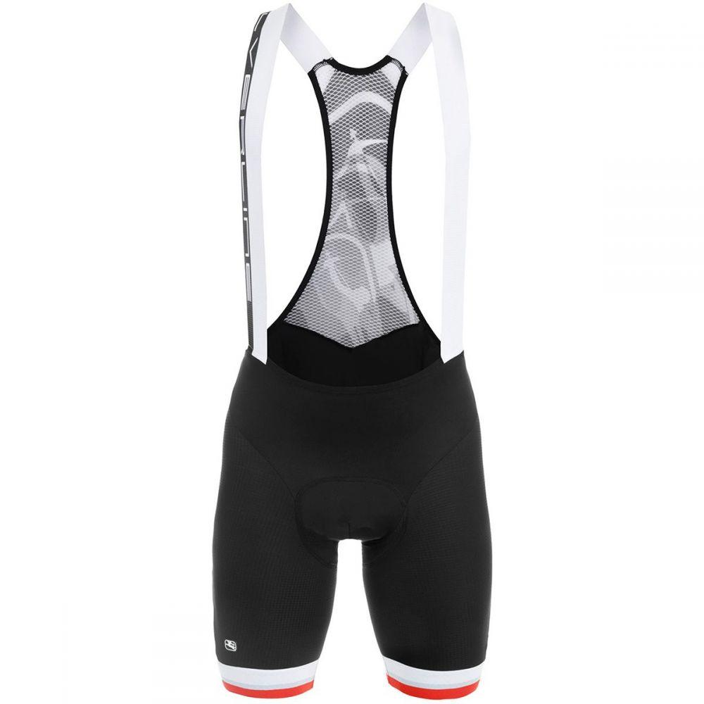 ジョルダーノ メンズ 自転車 ボトムス・パンツ【SilverLine Bib Shorts】Black/Red Accents
