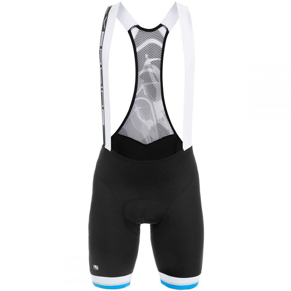 ジョルダーノ メンズ 自転車 ボトムス・パンツ【SilverLine Bib Shorts】Black/Blue Fluo Accents