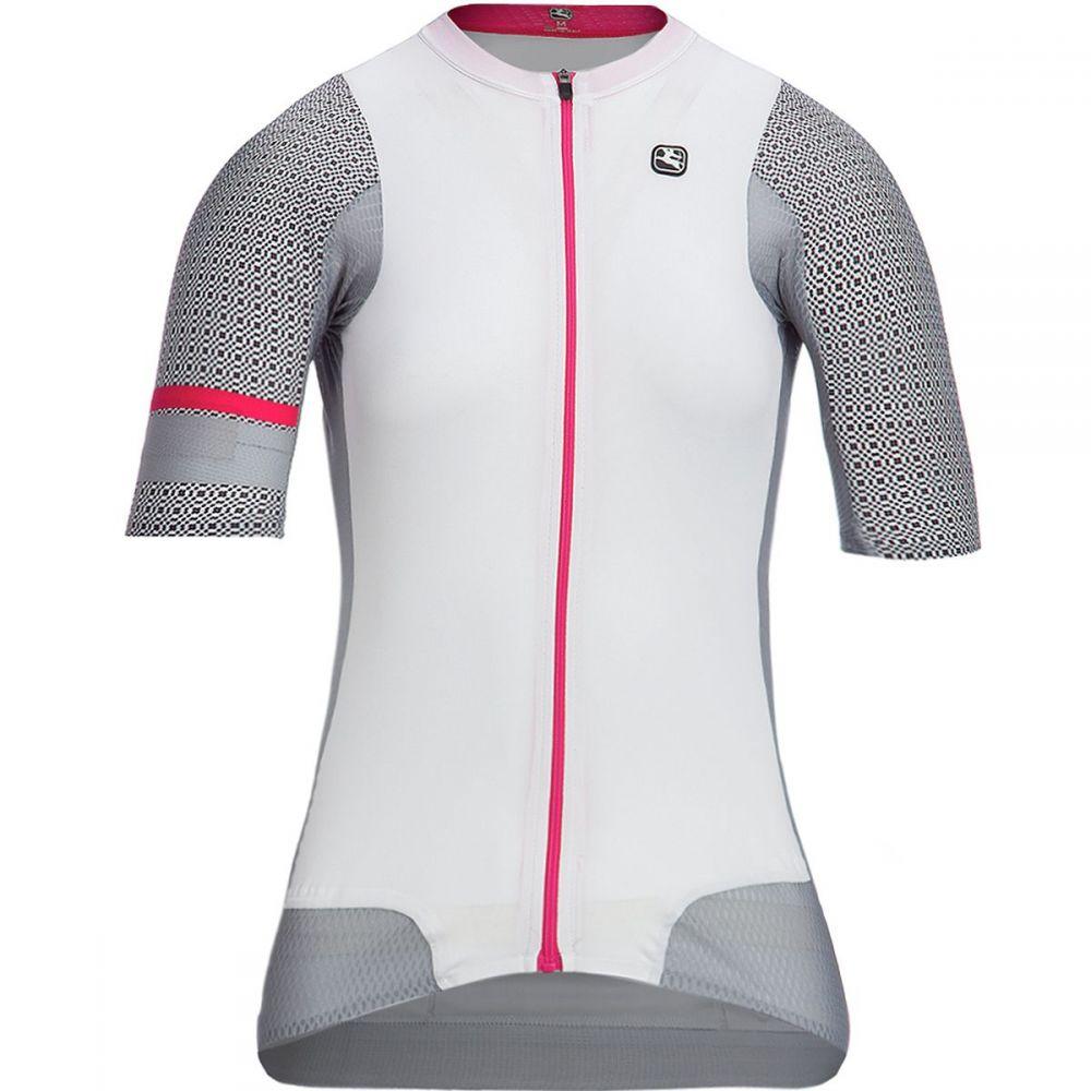 ジョルダーノ レディース 自転車 トップス【NX - G Air Short - Sleeve Jersey】White/Grey