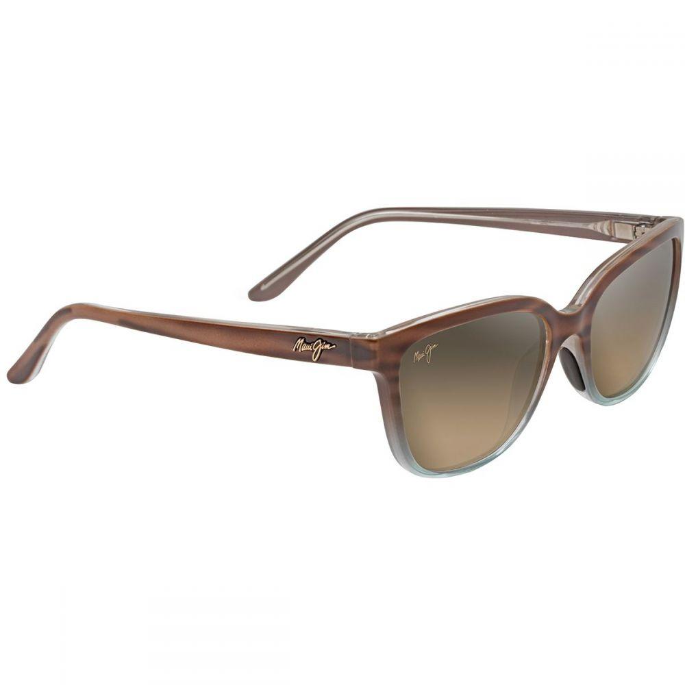 マウイジム レディース スポーツサングラス【Honi Polarized Sunglasses】Sandstone With Blue