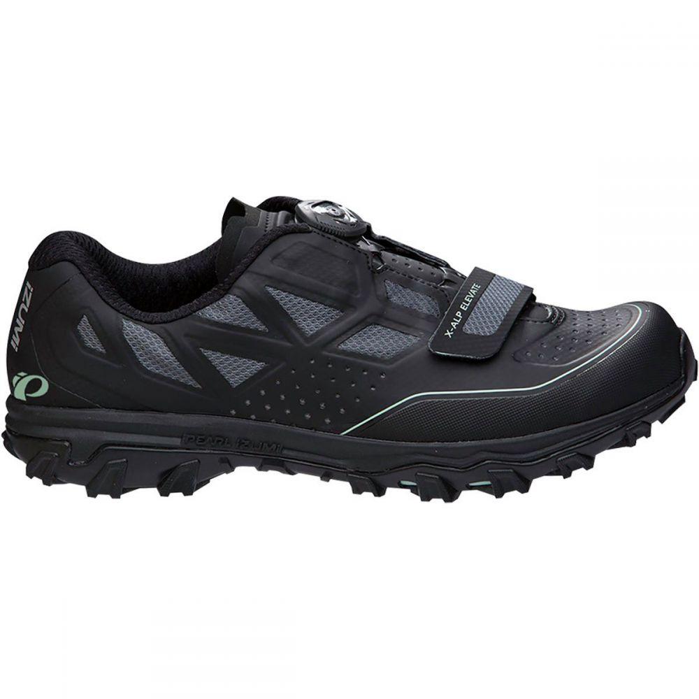 パールイズミ レディース 自転車 シューズ・靴【X - ALP Elevate Mountain Bike Shoe】Black/Black