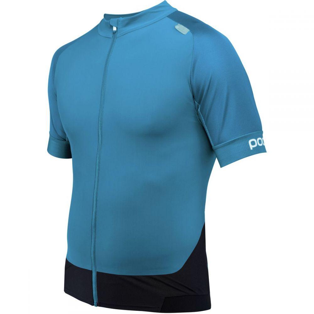 ピーオーシー メンズ 自転車 トップス【Resistance Pro XC Zip T - Shirts】Furfural Blue