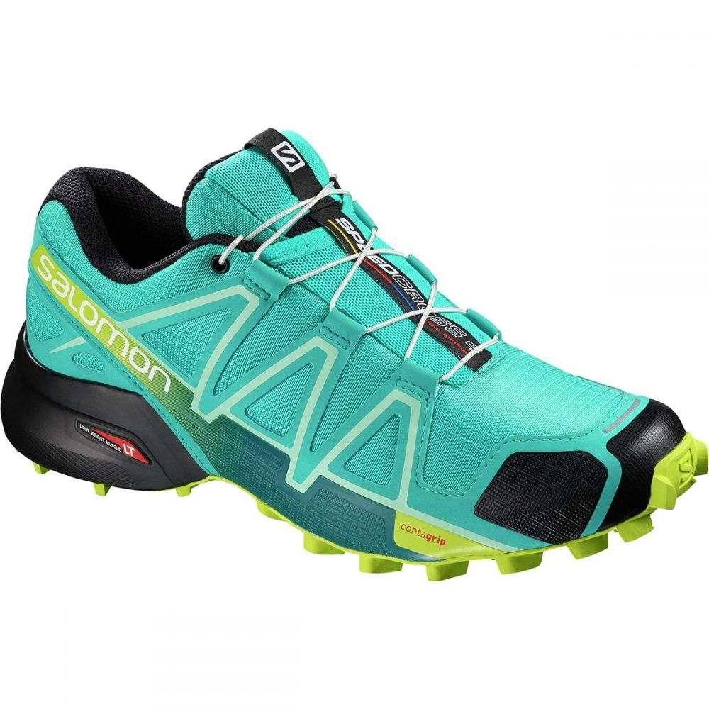 サロモン レディース ランニング・ウォーキング シューズ・靴【Speedcross 4 Trail Running Shoe】Bluebird/Acid Lime/Black
