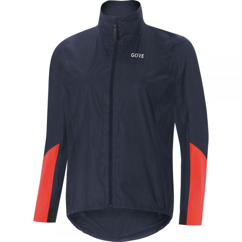 ゴアウェア レディース 自転車 アウター【C7 Gore - Tex Shakedry Viz Jacket】Storm Blue/Lumi Orange