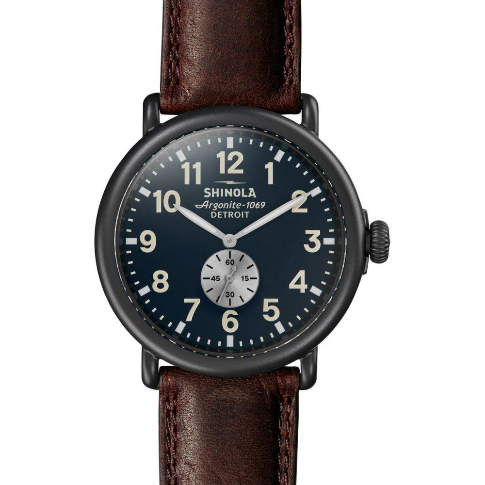 シャイノーラ レディース 腕時計【Runwell 47mm Watch】Navy/Brown