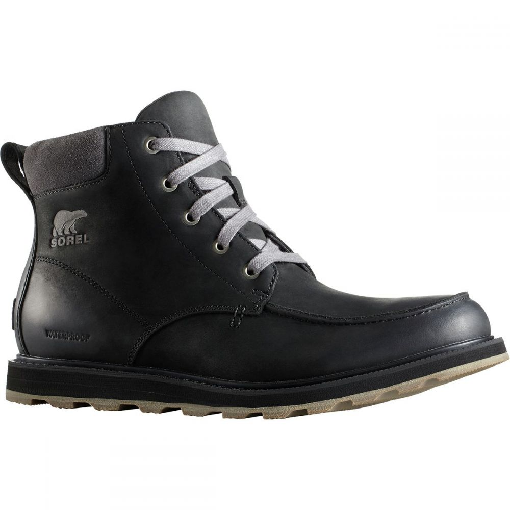 ソレル メンズ シューズ・靴 ブーツ【Madson Moc Toe Waterproof Boots】Black/Dark Grey