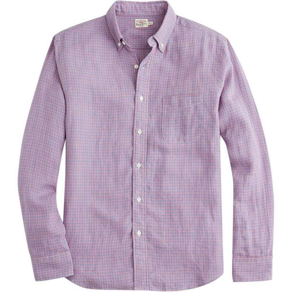 ファレティ メンズ トップス シャツ【Linen Ventura Shirts】Red Blue Check