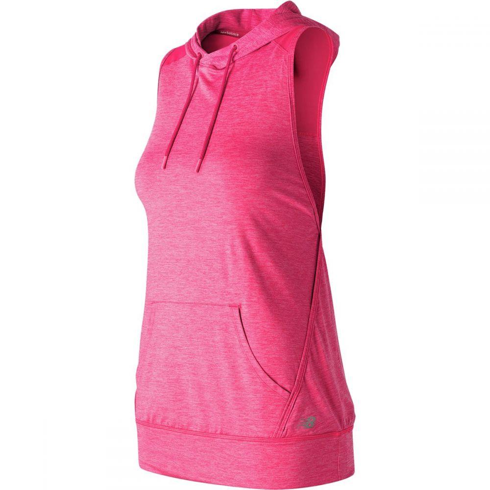 ニューバランス レディース トップス ブラウス・シャツ【Hooded Pullover Shirt】Pomegranate Heather