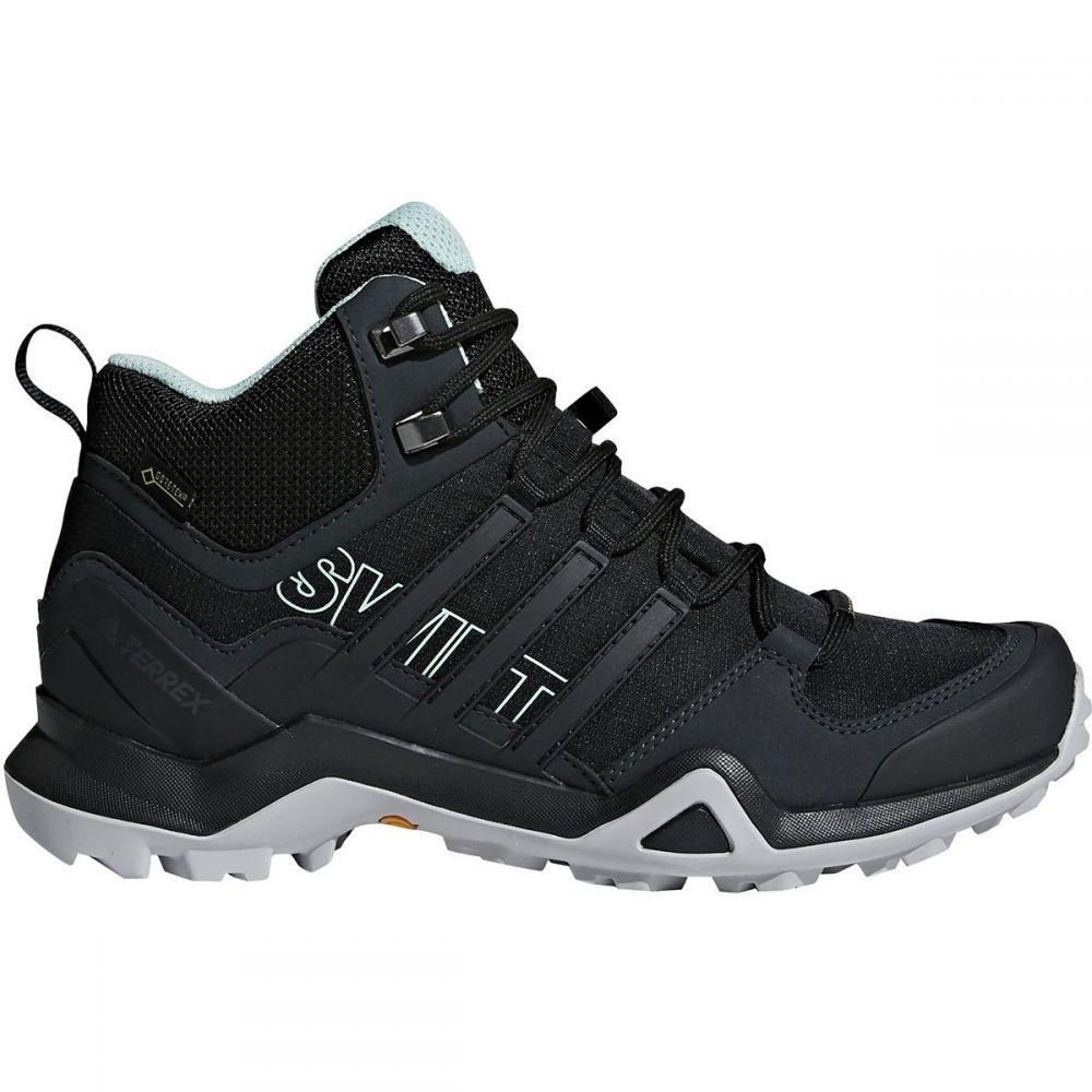 アディダス レディース ハイキング・登山 シューズ・靴【Terrex Swift R2 Mid GTX Hiking Boot】Black/Black/Ash Green