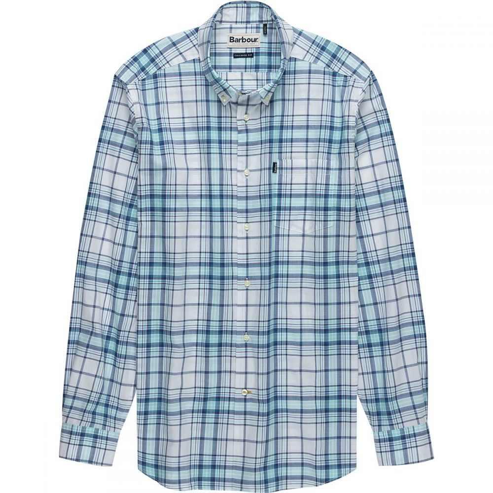 バーブァー メンズ トップス シャツ【Christopher Tailored - Fit Long - Sleeve Shirts】Aqua