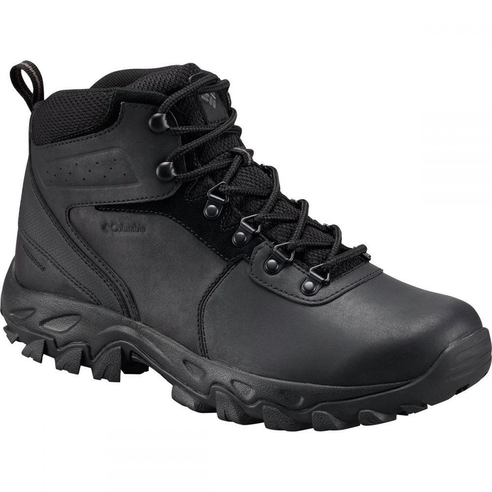 コロンビア Plus メンズ ハイキング・登山 シューズ Hiking Boots】Black/Black・靴【Newton Ridge Plus II Waterproof Hiking Boots】Black/Black, 腕時計専門店ハイブリッドスタイル:384f3065 --- sunward.msk.ru
