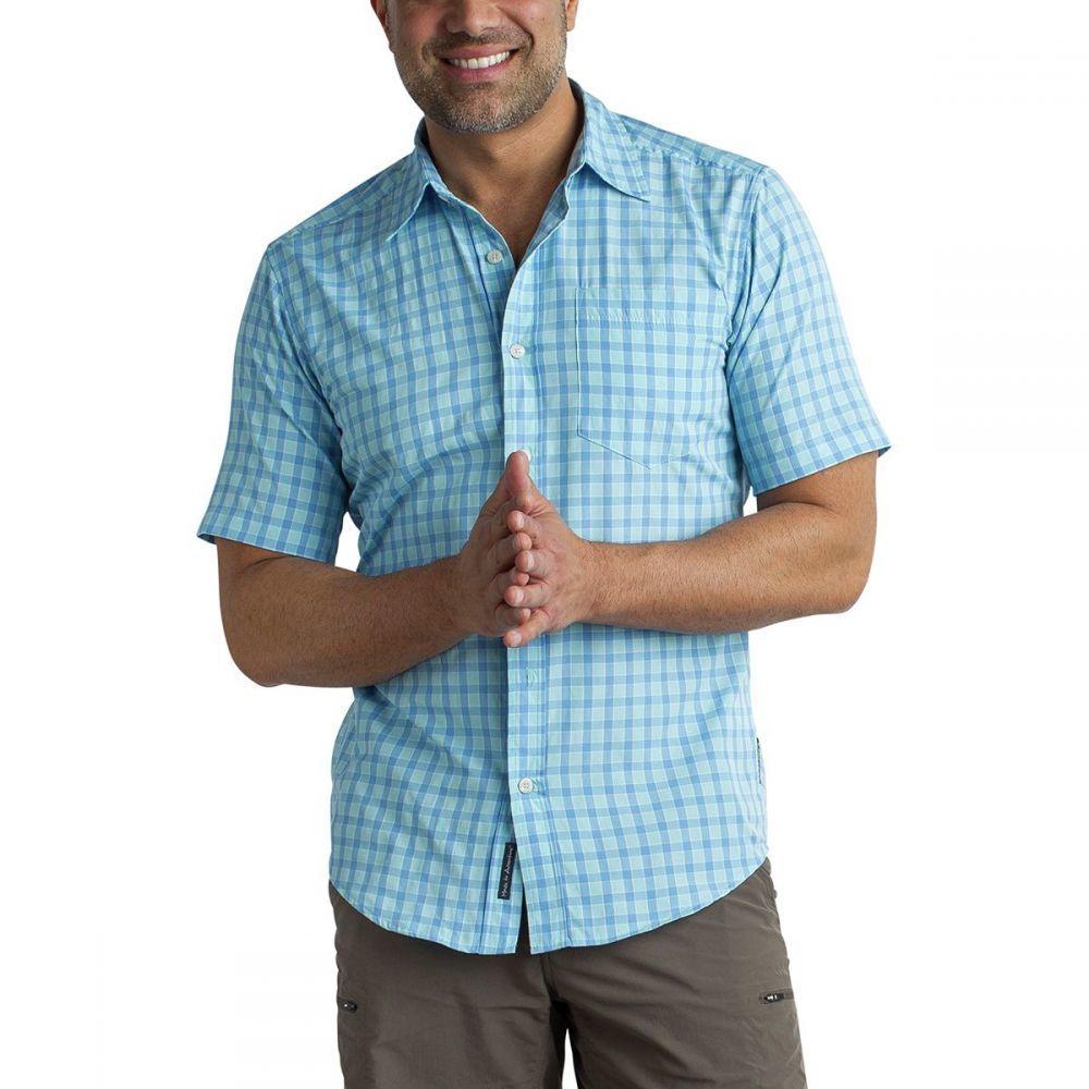 エクスオフィシオ メンズ トップス 半袖シャツ【Salida Check Short - Sleeve Shirts】Silverlake