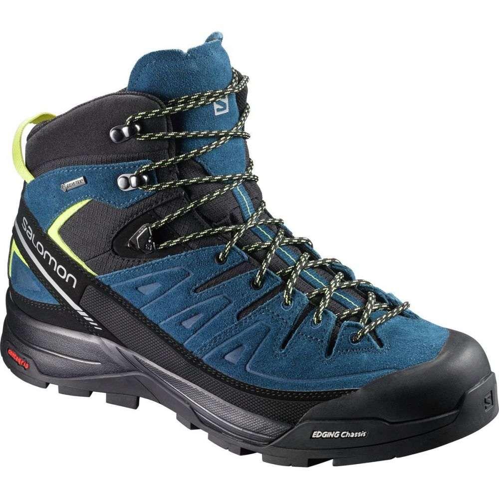 サロモン メンズ ハイキング・登山 シューズ・靴【X Alp Mid LTR GTX Boots】Black/Poseidon/Sulphur Spring