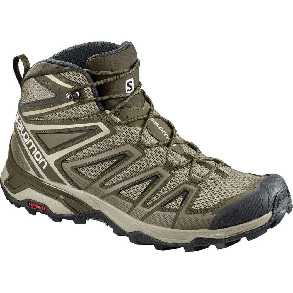 サロモン メンズ ハイキング・登山 シューズ・靴【X Ultra Mid 3 Aero Hiking Boots】Vintage Kaki/Wren/Black