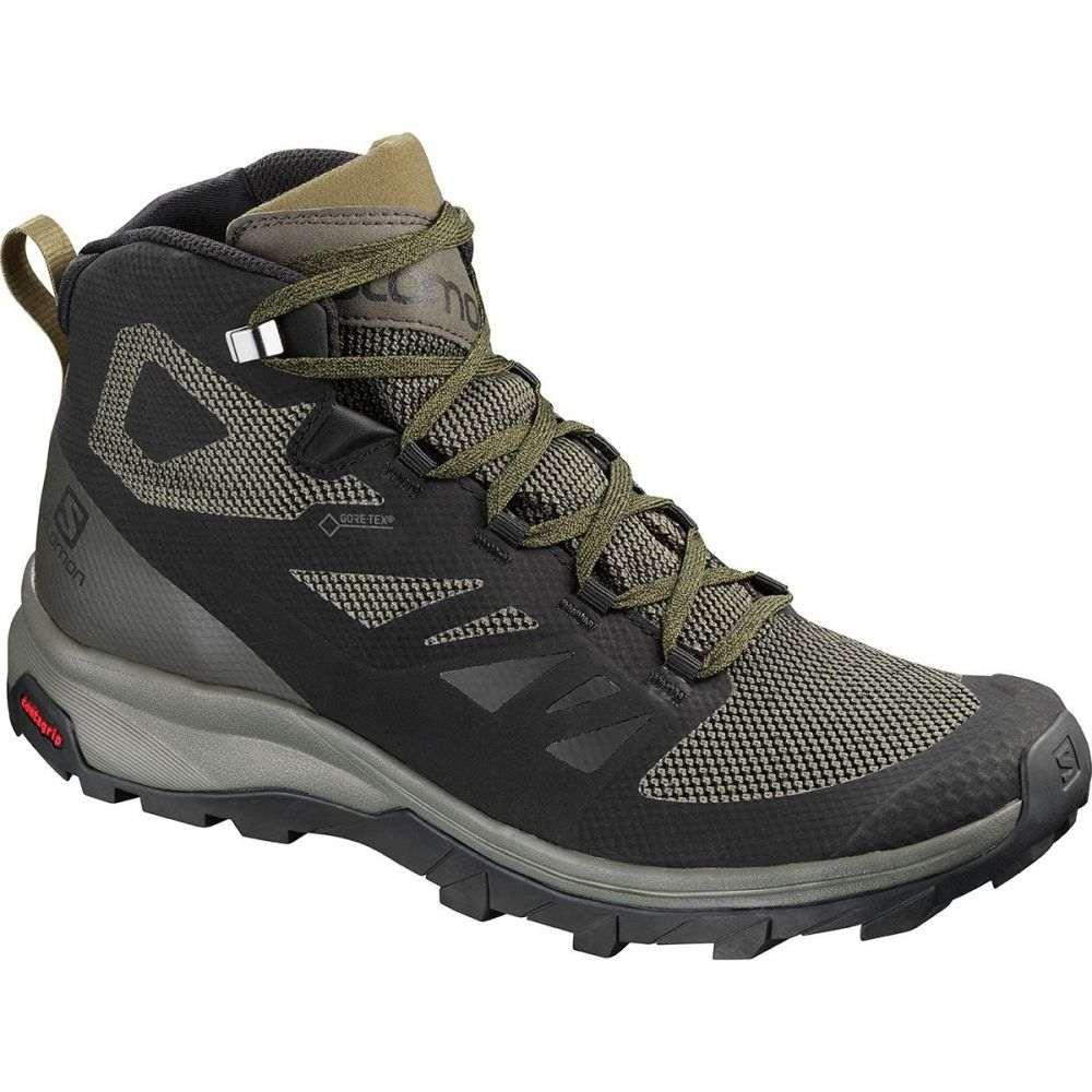 即日発送 サロモン メンズ サロモン ハイキング・登山 メンズ シューズ・靴【Outline Mid GTX GTX Hiking Boots】Black/Beluga/Capers, 新作人気モデル:dba6c92e --- business.personalco5.dominiotemporario.com
