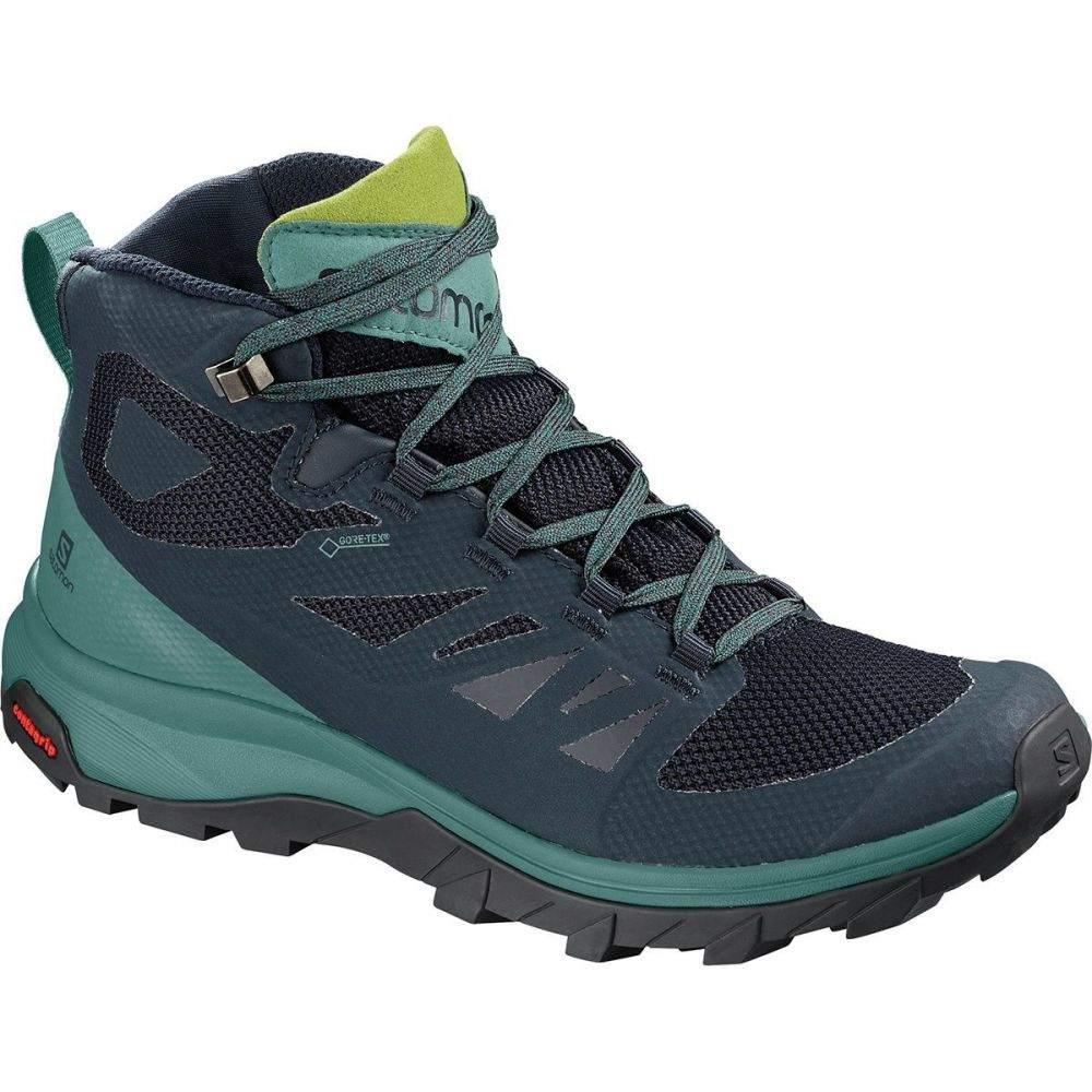 サロモン レディース ハイキング・登山 シューズ・靴【Outline Mid GTX Hiking Boot】Navy Blazer/Hydro/Guacamole