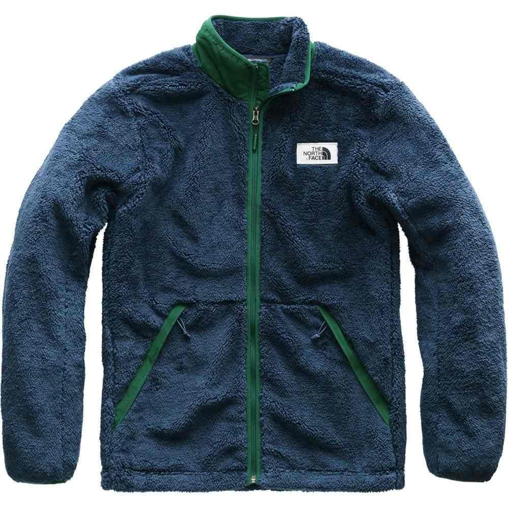 ザ ノースフェイス メンズ トップス フリース【Campshire Fleece Jackets】Shady Blue/Botanical Garden Green