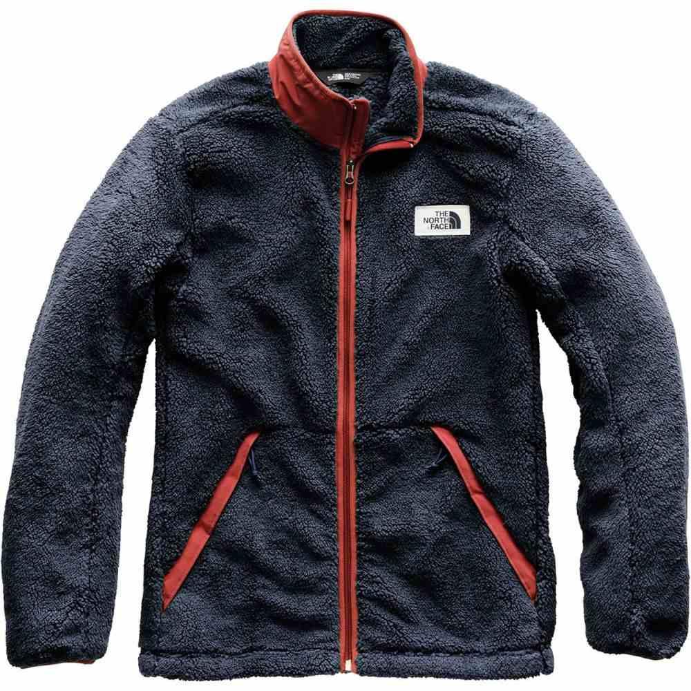 ザ ノースフェイス メンズ トップス フリース【Campshire Fleece Jackets】Urban Navy/Caldera Red