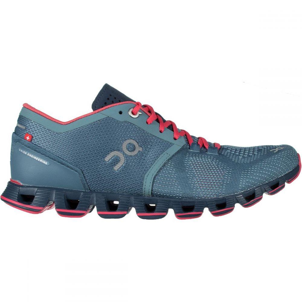 オン レディース ランニング・ウォーキング シューズ・靴【Cloud X Running Shoe】Lake/Coral