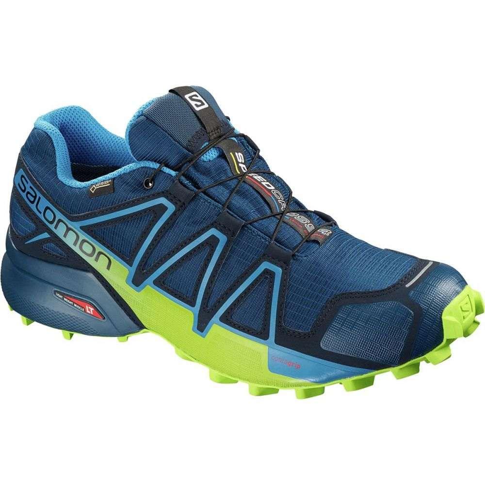 サロモン メンズ ランニング・ウォーキング シューズ・靴【Speedcross 4 GTX Trail Running Shoes】Poseidon/Navy Blazer/Lime Green