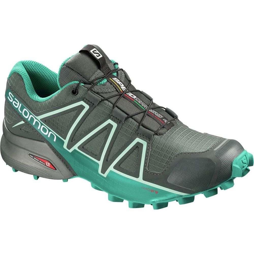 サロモン レディース ランニング・ウォーキング シューズ・靴【Speedcross 4 GTX Trail Running Shoe】Balsam Green/Tropical Green/Beach Glass