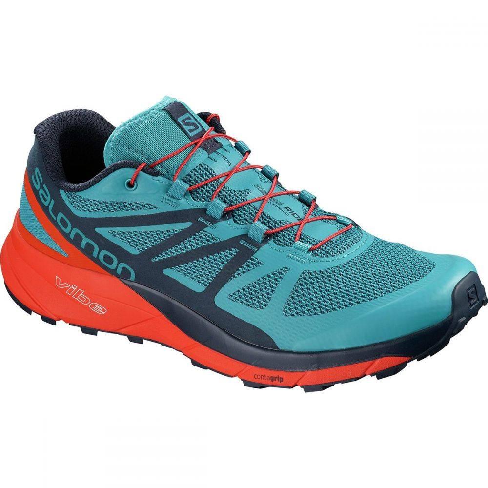 サロモン メンズ ランニング・ウォーキング シューズ・靴【Sense Ride Trail Running Shoes】Fjord Blue/Cherry Tomato/Navy Blazer