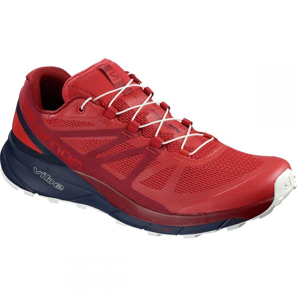 サロモン メンズ ランニング・ウォーキング シューズ・靴【Sense Ride Trail Running Shoes】High Risk Red/Navy Blazer/Red Dahlia