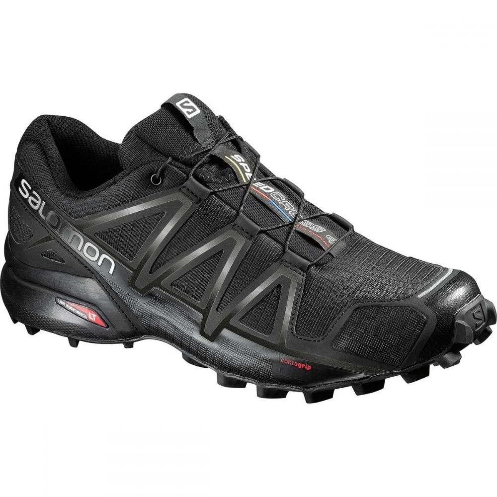 サロモン メンズ ランニング・ウォーキング シューズ・靴【Speedcross 4 Wide Trail Running Shoes】Black/Black/Black Metallic