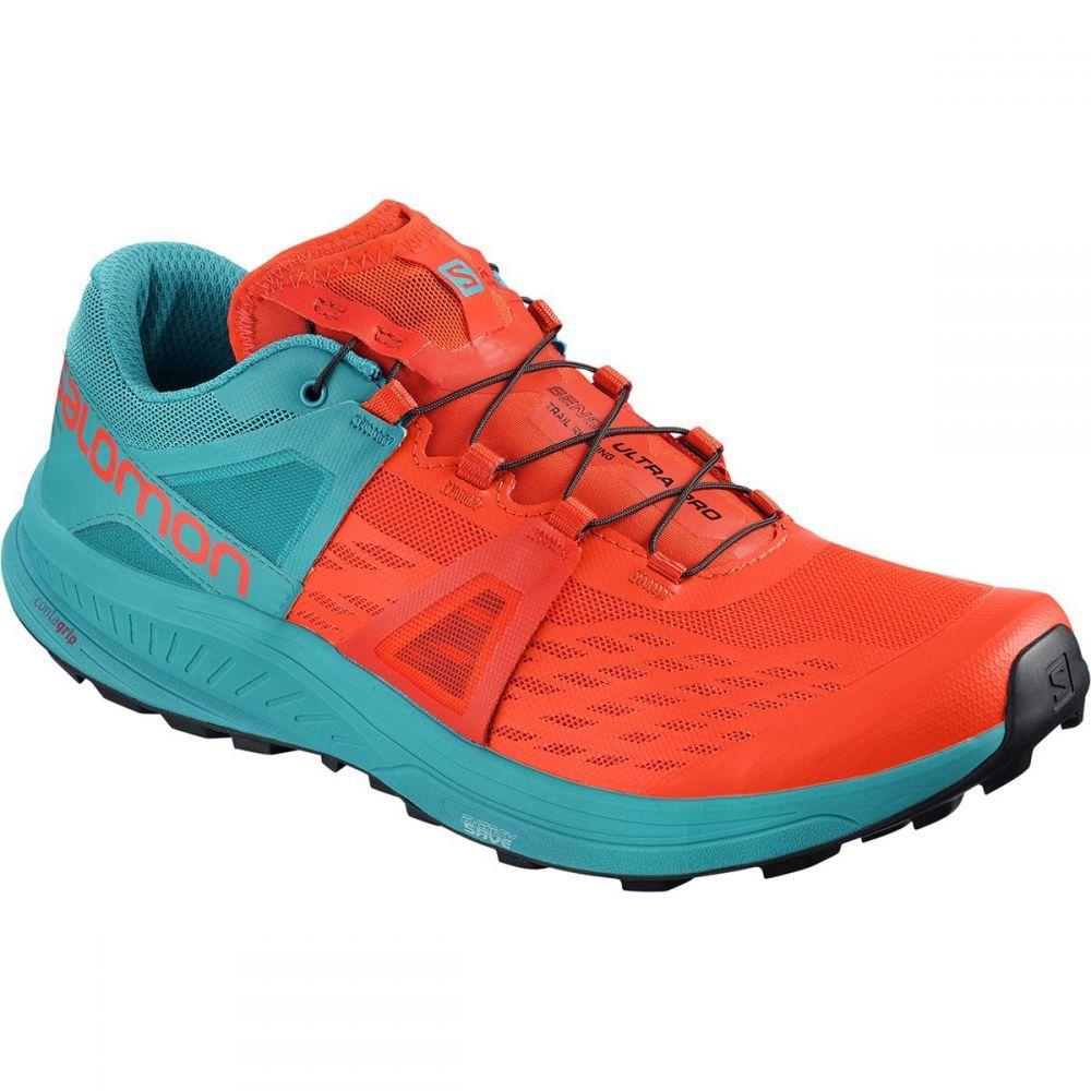サロモン メンズ ランニング・ウォーキング シューズ・靴【Ultra Pro Trail Running Shoes】Cherry Tomato/Fjord Blue/Black