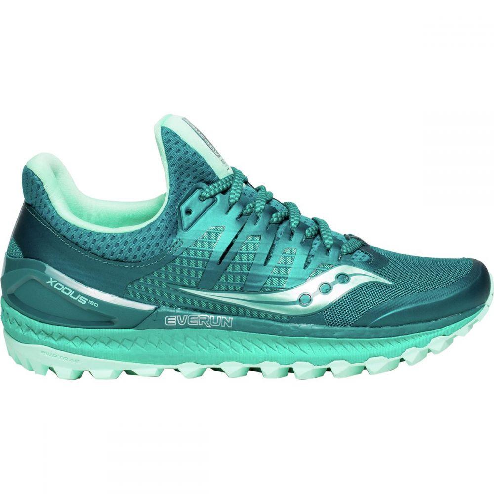 サッカニー レディース ランニング・ウォーキング シューズ・靴【Xodus Iso 3 Trail Running Shoe】Green/Aqua