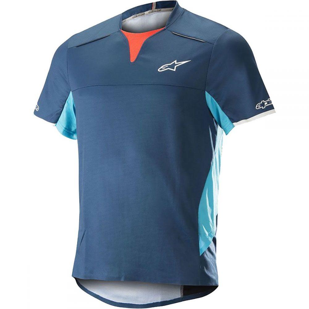アルパインスター メンズ 自転車 トップス【Drop Pro Short - Sleeve Jerseys】Poseidon Blue/Atoll Blue