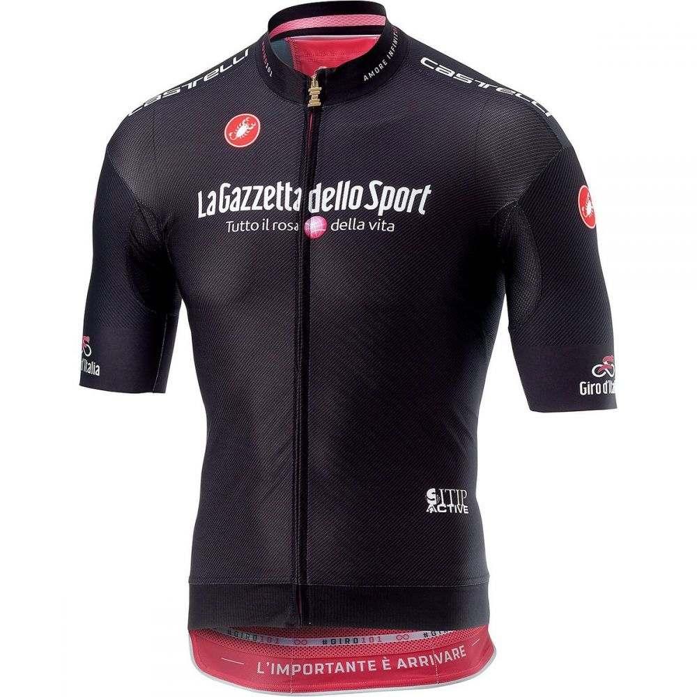 カステリ メンズ 自転車 トップス【Giro Race Full - Zip Jerseys】Nero