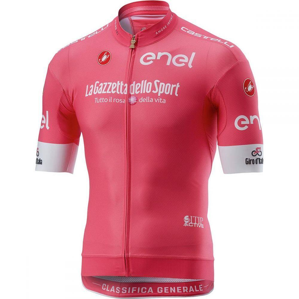 カステリ メンズ 自転車 トップス【Giro Race Full - Zip Jerseys】Rosa Giro