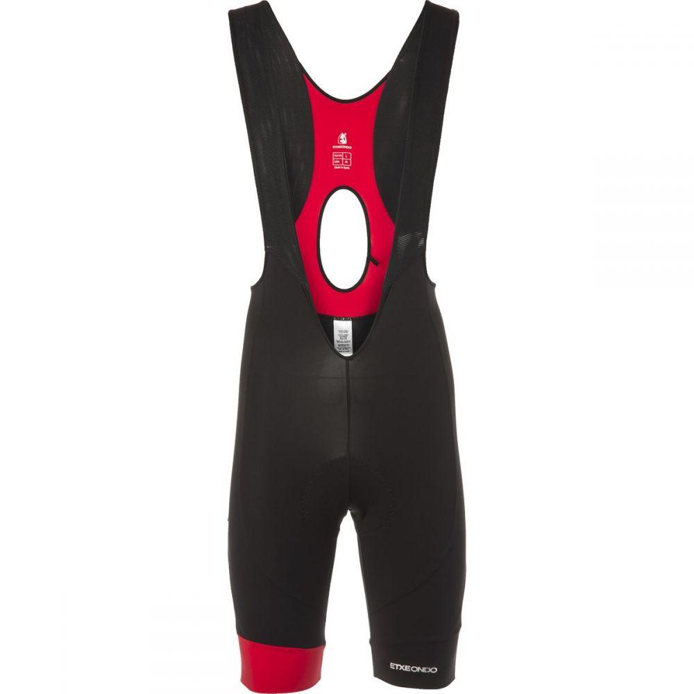 エチェオンド メンズ 自転車 ボトムス・パンツ【Attaque Bib Shorts】Black/Red
