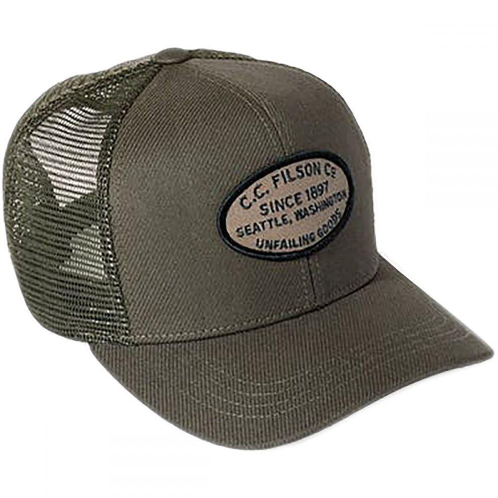 フィルソン メンズ 帽子 キャップ【Buckshot Twill Mesh Caps】Otter Green