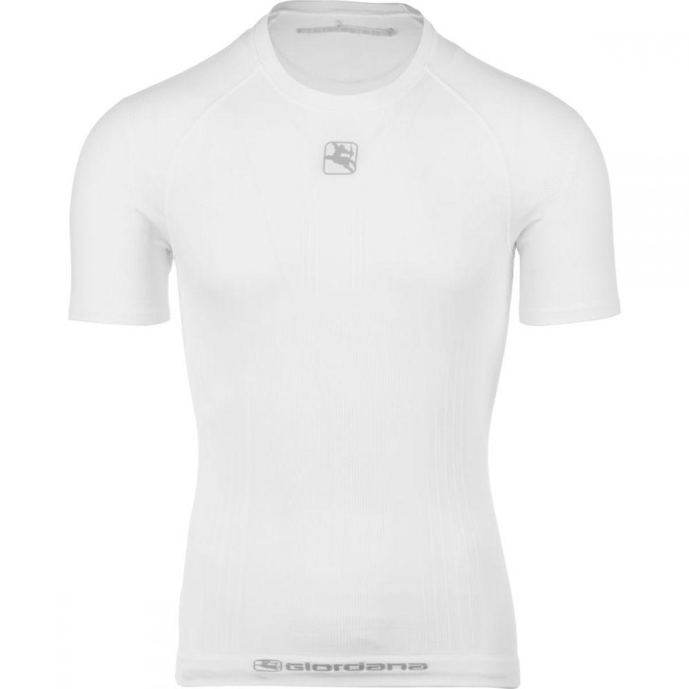 ジョルダーノ メンズ 自転車 トップス【Mid - Weight Tubular Short - Sleeve Base Layers】White