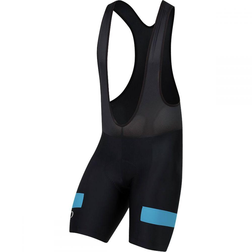 パールイズミ メンズ 自転車 ボトムス・パンツ【Quest Splice Bib Shorts】Black/Atomic Blue