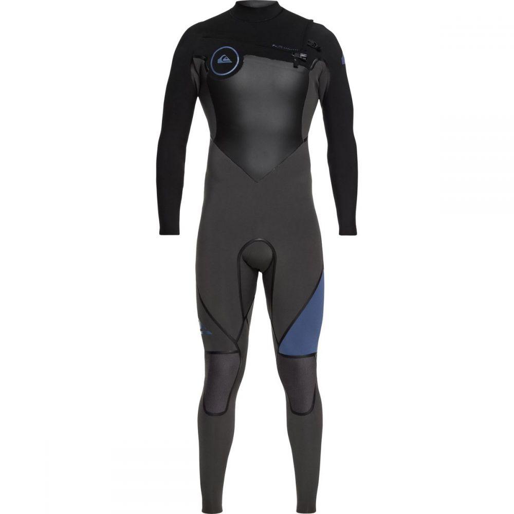クイックシルバー メンズ 水着・ビーチウェア ウェットスーツ【3/2 Syncro Plus Chest Zip LFS Wetsuits】Black/Jet Black/Cascade Blue