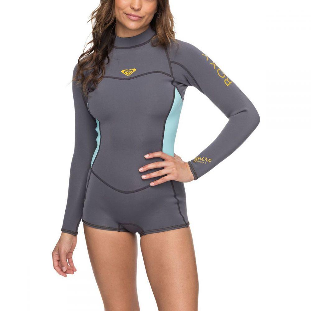 ロキシー レディース 水着・ビーチウェア ウェットスーツ【2/2 Syncro SER Back - Zip Spring FLT Wetsuit - Long - Sleeve】Deep Grey/Glicer Blue