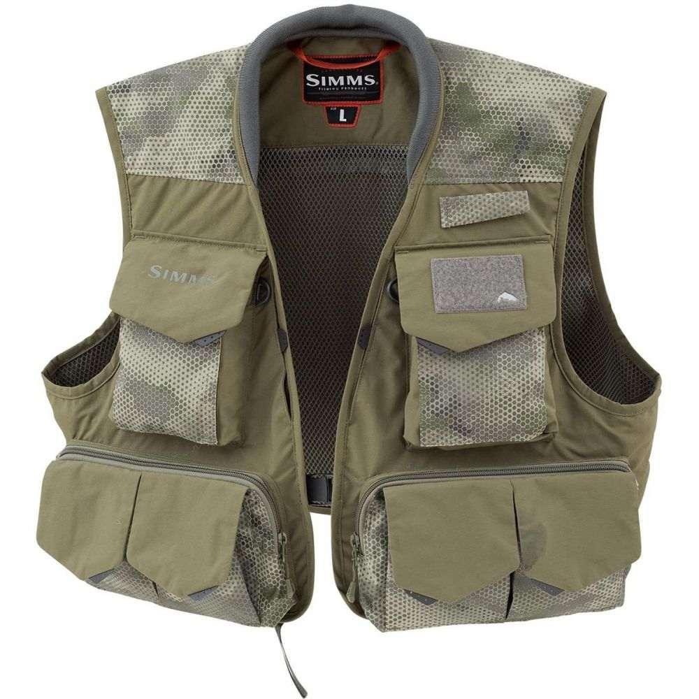シムズ メンズ 釣り・フィッシング トップス【Freestone Vests】Hex Camo Loden